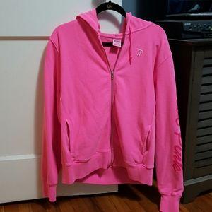 New Pink Victoria Secret Heavyweight Zip-up Hoodie